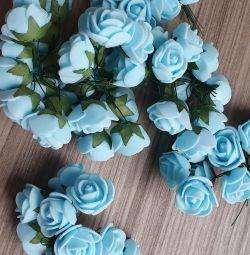 Троянди 2 кольори на дроті для творчості