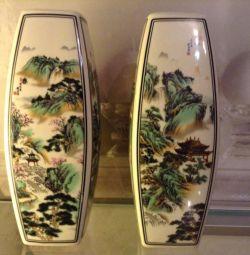 Paired Porcelain Vases