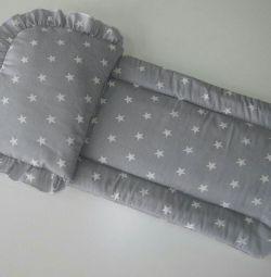 Матрацик і подушка в коляску