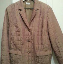 Італійська стьобана куртка - піджак 58-60 розмір.