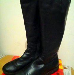 Χειμερινές μπότες (δέρμα)