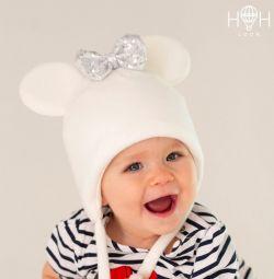 Χειμερινό καπέλο Minnie με πούλιες, γάλα