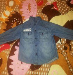 Сорочка джинсова р.98-104