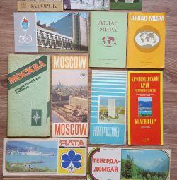 Map, tourist scheme, world atlas