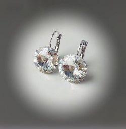 Swarovski kristalleri ile küpe