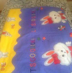 Baby (new) blanket of sheep wool, handmade