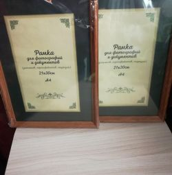 Frames for photos or documents