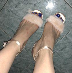 Sandale bershka ca o singură ieșire unică 38r