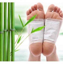 Toxine patch-uri pe picioare.