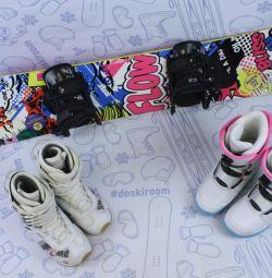 Snowboard 135 cm Flow Bliss + bindings + boots