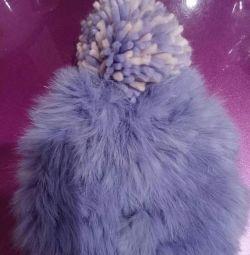 Pălărie de iepure tricotată
