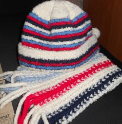 Hat and scarf.