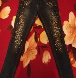 Jeans cu fleece