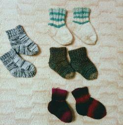 Socks are wool 10, 11, 12, 13 cm.