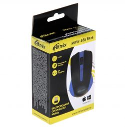 Mouse Ritmix RMW-555 wireless black and blue