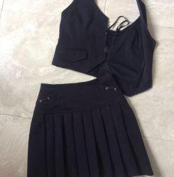 Σχολική φούστα ahseh morva για τα κορίτσια 10-11 χρόνια
