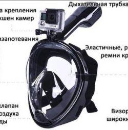 Μάσκα με αναπνευστήρα με βάση κάμερας δράσης