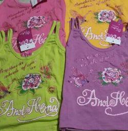Tricouri pentru copii noi.