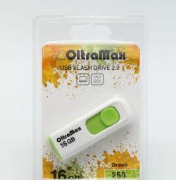 USB stick USB 2.0 16Gb OltraMax 250 Green