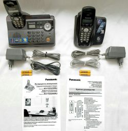 3 phones Panasonic Answering machine Recording AON pr