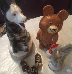 Товари СРСР порцелянові іграшки, значки, пляшки та ін