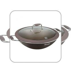 Wok with / cr 32 cm Mocco Rondell