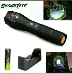 Φακός LED Skywolfeye S2, σύνολο !!!