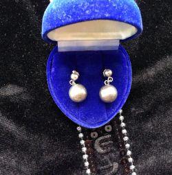 Gümüş küpeler Yeni