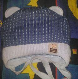 Ζεστό καπέλο μέχρι ένα χρόνο