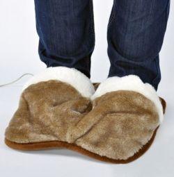 Papuci USB încălziți