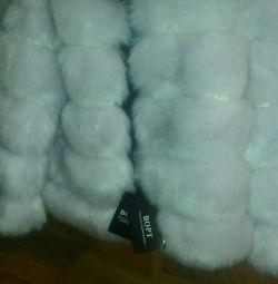 Eco-fur coat