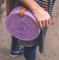 Плетёная сумочка из ротанга