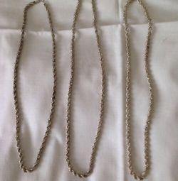 Новая серебряная цепь крупное плетение.