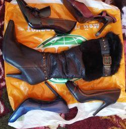 Отличная красивая обувь36/ 37р.на высоком каблуке.