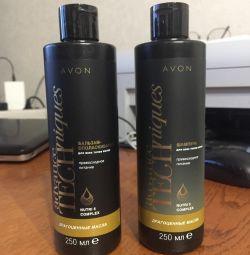 Shampoo and balm