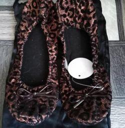 παπούτσια μπαλέτου στο σπίτι