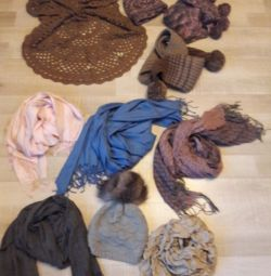 Scarfs, hat, mittens new