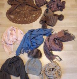 Шарфи, шапка, рукавиці нові