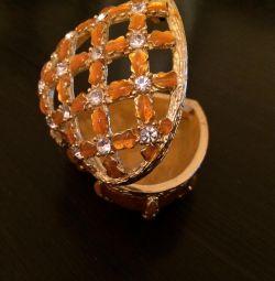 Casket with rhinestones