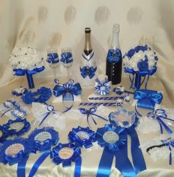 Accesorii de nuntă buchete pahare de vin cu vatră