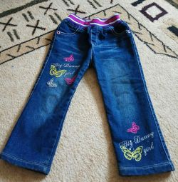 Warmed jeans for 3-4 years