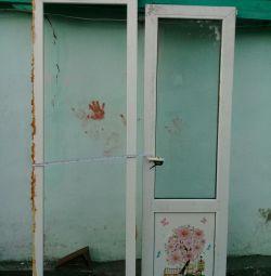Plastic balcony door