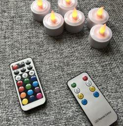 Led κεριά με τηλεχειριστήριο