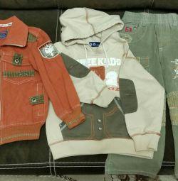 Takım: kazak, pantolon ve rüzgarlık