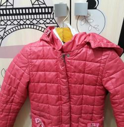 The jacket is pink. For the girl