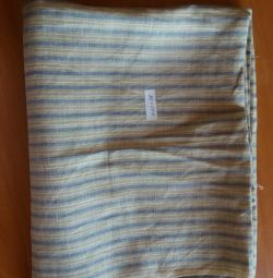 Fabrics natural wool, chintz, ..