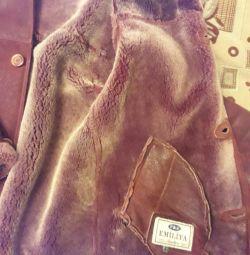 Palton de bărbați din piele de oaie