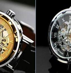 Новые механические часы Skeleton Winner