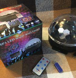 Emisferă magic mingea culoare spectacol de muzică lumina