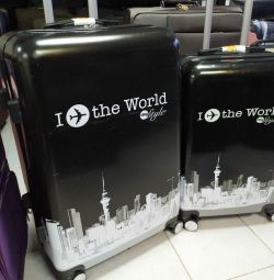 Suitcase plastic 3 sizes. Delivery